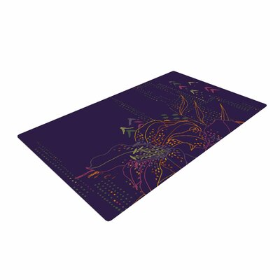 Karina Edde Hibiscus Abstract Purple Area Rug Rug Size: 4' x 6'