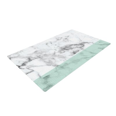 Marble Fade White/Green Area Rug