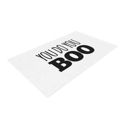 You Do You Boo Black/White Area Rug