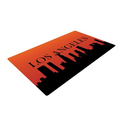 Los Angeles Orange/Black Area Rug