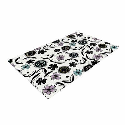 Jessica Wilde Artisan Floral Black/White Area Rug