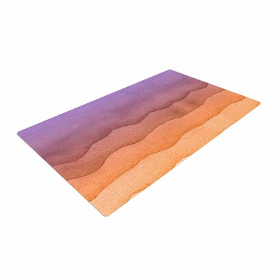 Sunrise Watercolor Ombre/Orange Area Rug