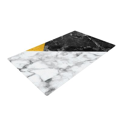 Geo Marble Digital Gold Area Rug