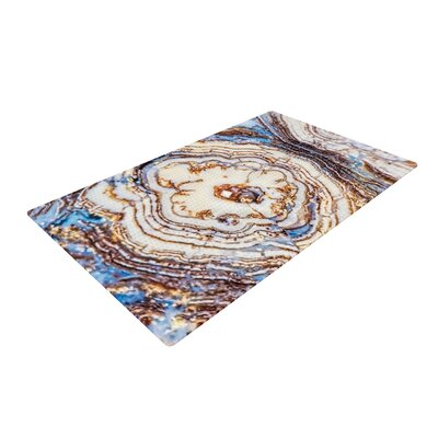 Crystal Agate Blue/Gold Area Rug