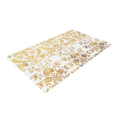 Baroque Abstract Floral Gold Area Rug