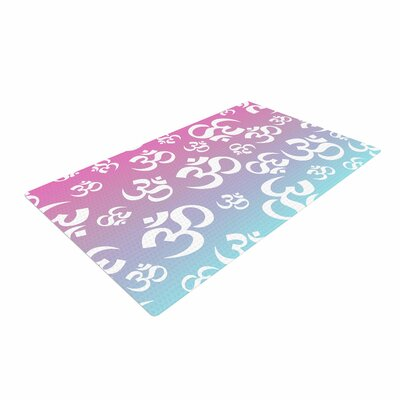 Ohm My Pastels Pink/Aqua Area Rug Rug Size: 2 x 3
