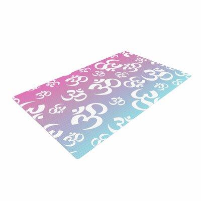 Ohm My Pastels Pink/Aqua Area Rug Rug Size: 4 x 6