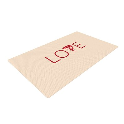 Slice of Love Tan/Red Area Rug Rug Size: 4 x 6