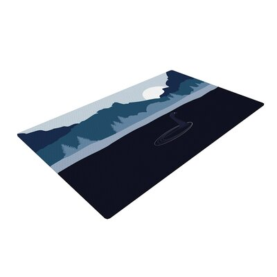 Swimming with Nessie Fantasy Blue Area Rug