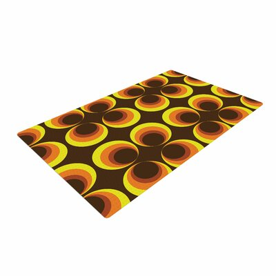 Owl Eye Vintage Yellow/Brown Area Rug