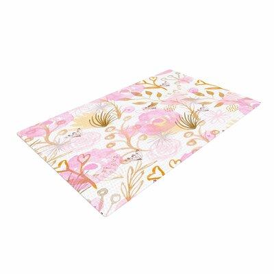 Li Zamperini Spring Time Pink/Beige Area Rug Rug Size: 4 x 6