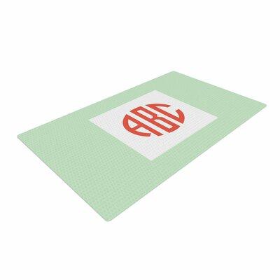 Classic Monogram Green Area Rug