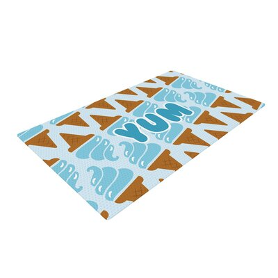 Yum! Ice Cream Blue Area Rug Rug Size: 2 x 3