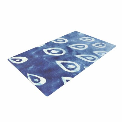 Jennifer Rizzo Drops of Vintage Indigo Blue/White Area Rug Rug Size: 4 x 6