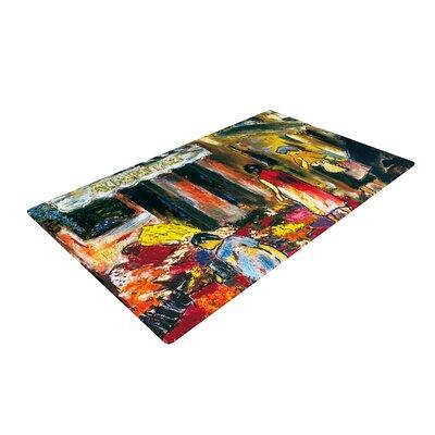 Josh Serafin Alimentari Painting Red/Black Area Rug Rug Size: 4 x 6