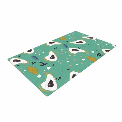Retro Steaks Teal/Gold Area Rug