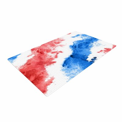 Patriotic Watercolor Red/White Area Rug