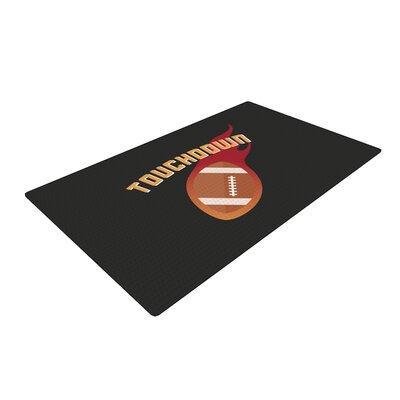 Touchdown XLVI Sports Football Black Area Rug Rug Size: 2 x 3