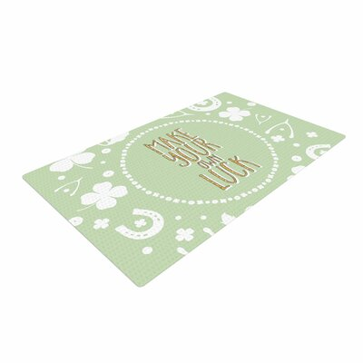 Own Luck Pastel/Green Area Rug