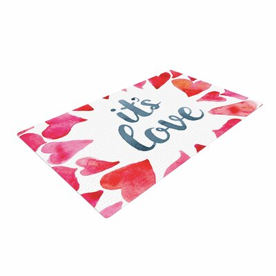 Its Love Red/Pink Area Rug