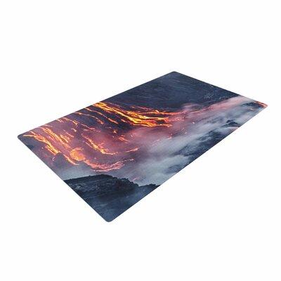 Lava Gray/Orange Area Rug