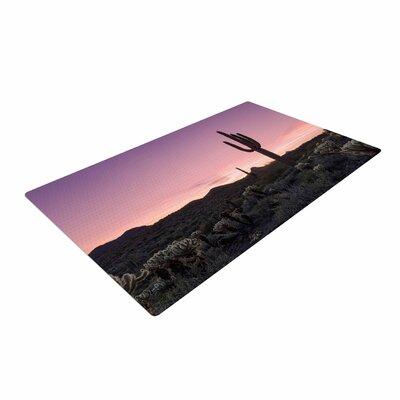 Tucson Sunset Tags Purple/Black Area Rug