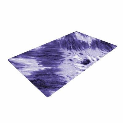 Violet Dye Digital Purple Area Rug