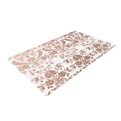 Baroque Abstract Floral Rose/Gold Area Rug