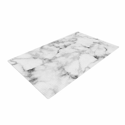 Marble Gray/White Area Rug