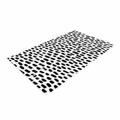 Ink Dots Black/White Area Rug
