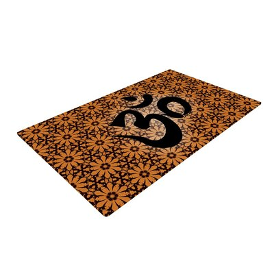 Om Black/Orange Area Rug