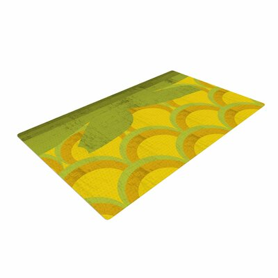Kathleen Kelly Pineapple Digital Food Yellow Area Rug Rug Size: 2 x 3