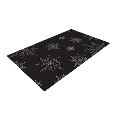 Mini Webs Black Area Rug