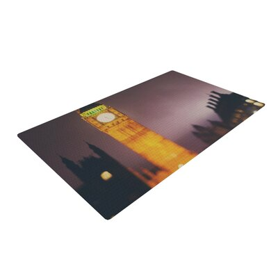 Laura Evans Westminster at Night Yellow Area Rug