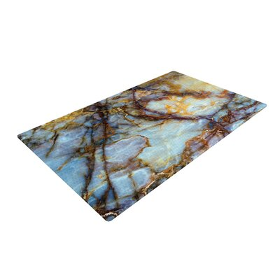 Opalized Marble/Brown Area Rug