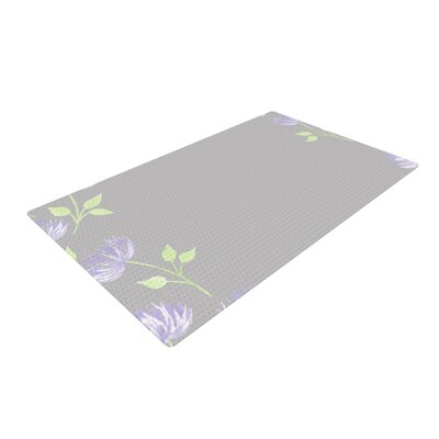 Louise Flower II Gray/Purple Area Rug