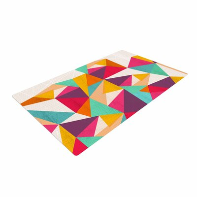 Kathleen Kelly Diamond Geometric Pink Area Rug