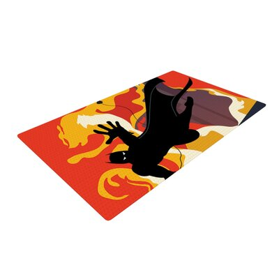 Kevin Manley Prodigal Son Batman Fire Yellow/Black Area Rug Rug Size: 2 x 3