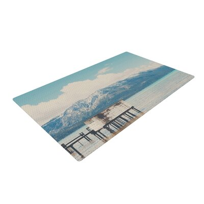 Laura Evans Down by the Lake Blue/Brown Area Rug