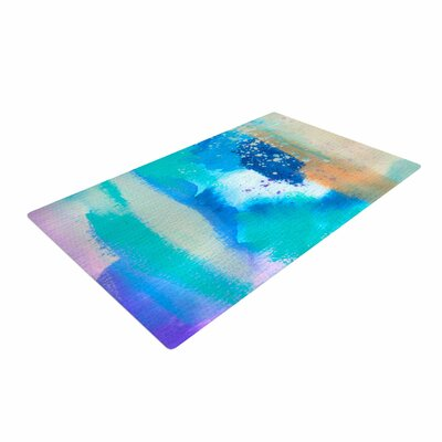 Li Zamperini About Blue/Green Area Rug Rug Size: 2 x 3