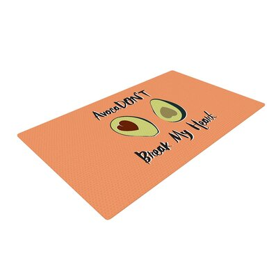 Avaca Dont Typography Orange Area Rug
