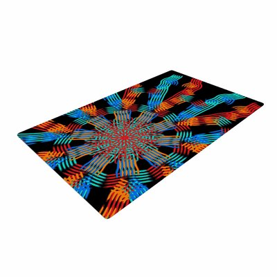 Laura Nicholson Ribbon Ring Abstract Black Area Rug