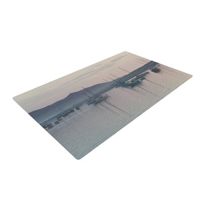 Laura Evans As the Sun Goes Down Gray/Pastel Area Rug