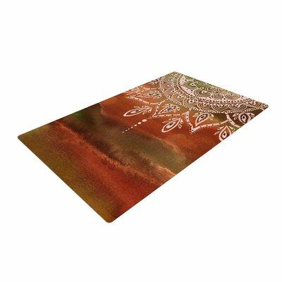 Li Zamperini Autumn Mandala Orange/Brown Area Rug Rug Size: 4 x 6