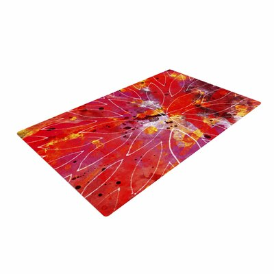 Li Zamperini Flame Red/Yellow Area Rug