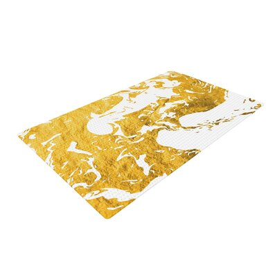 Ink on Water White/Metal/Gold Area Rug