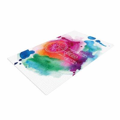 Dream in Color Watercolor Rainbow Area Rug