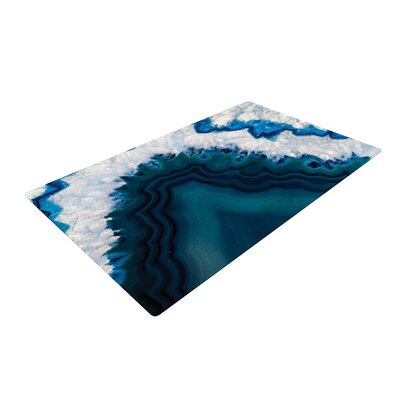 Geode Nature Photography Blue Area Rug