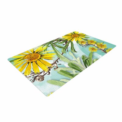 Liz Perez Sunny Day Floral Yellow Area Rug