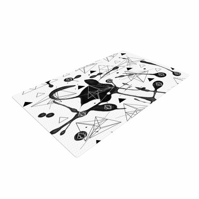 Li Zamperini Geometric Black/White Area Rug